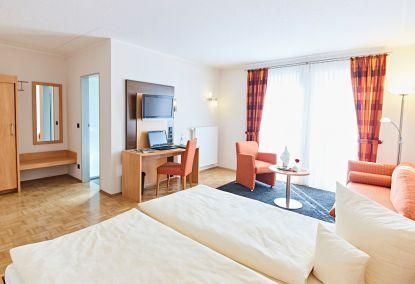 Komfort-Doppelzimmer im Hotel Pötter in Emsdetten.