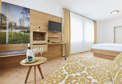 Komfortables Zimmer im familiengeführten Hotel und Restaurant Pötter in Emsdetten.